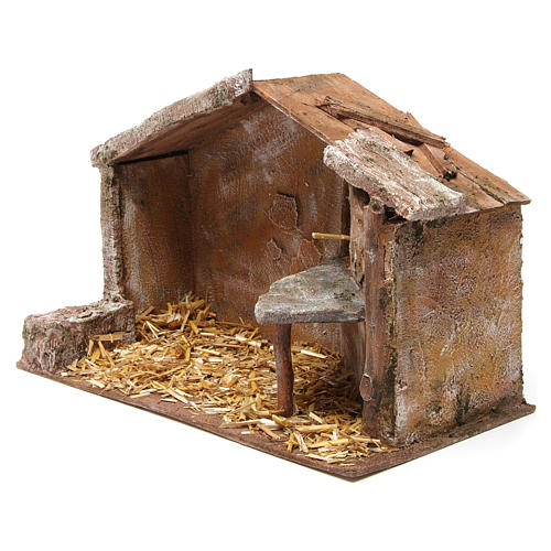 Shed for nativity 12cm 35x18x24 cm 2