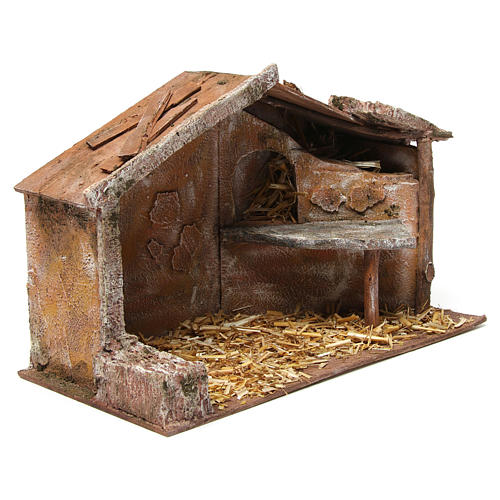Shed for nativity 12cm 35x18x24 cm 3