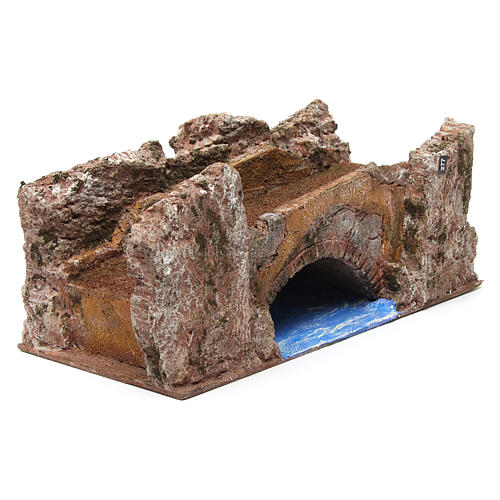 Ruscello ponte per presepe 10 cm 15X30X15 cm 3