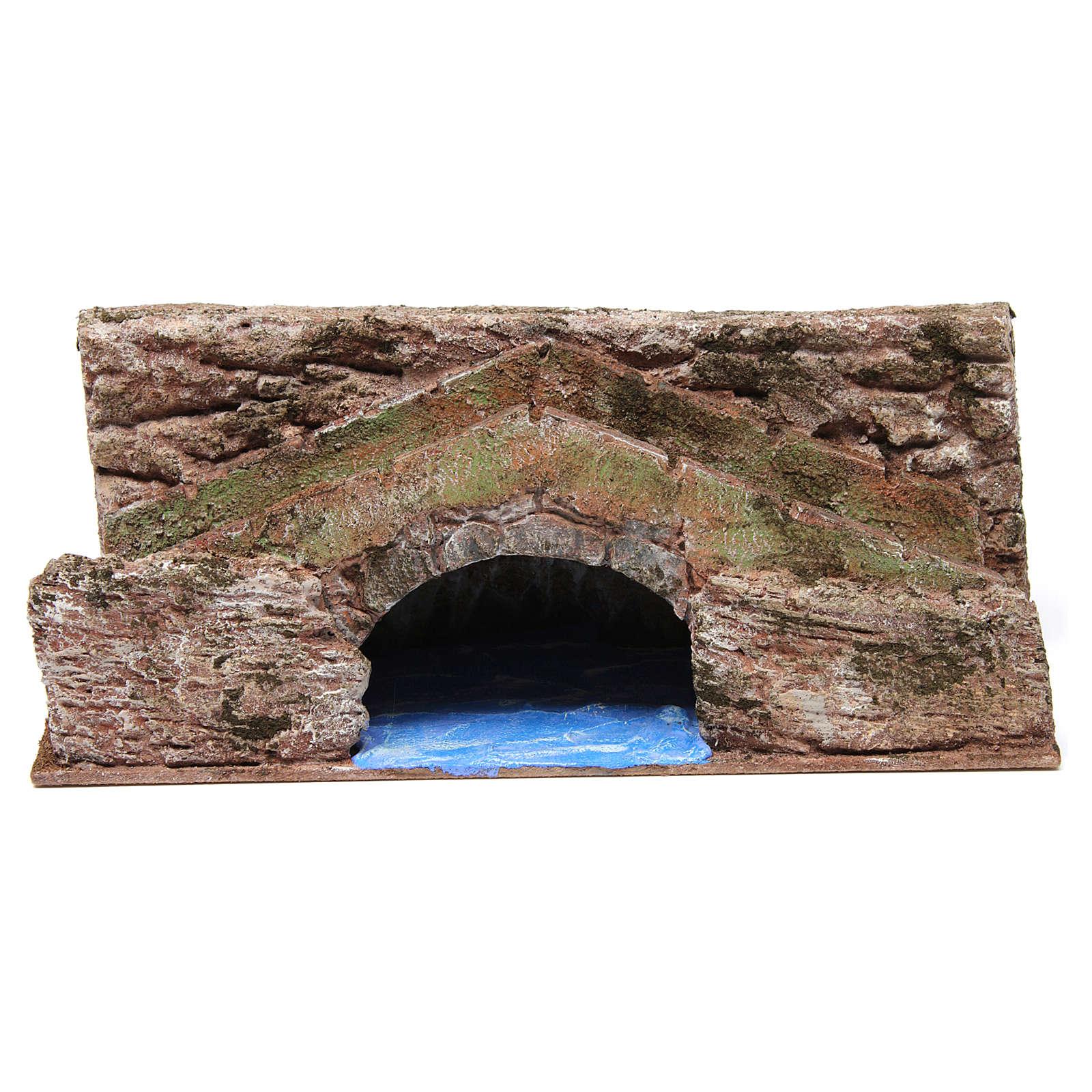 Ruscello ponte per presepe 10 cm 15X30X15 cm 4