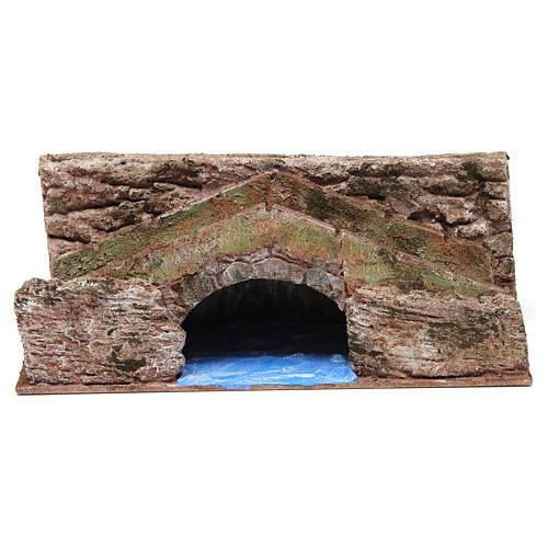 Ruscello ponte per presepe 10 cm 15X30X15 cm 1