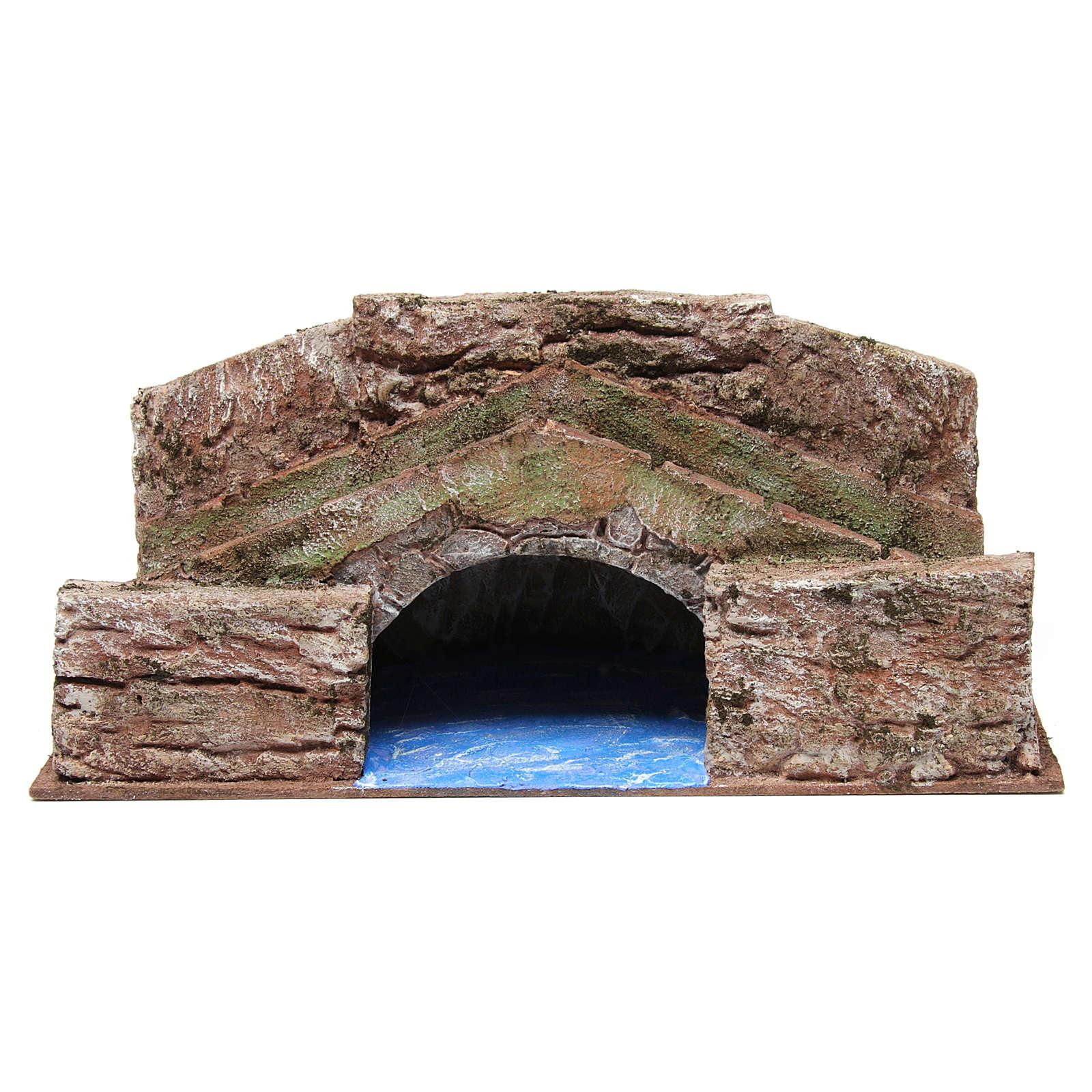 Ruscello ponte alto per presepe 12 cm 20X35X20 cm 4