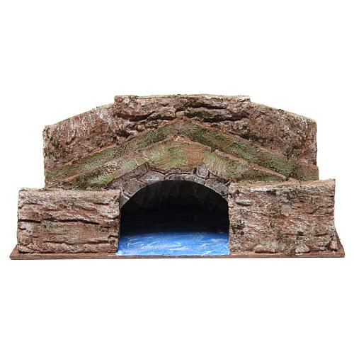 Ruscello ponte alto per presepe 12 cm 20X35X20 cm 1
