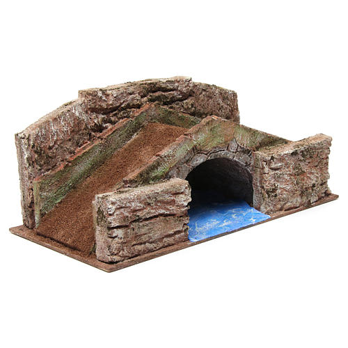 High Stream Bridge for 12cm nativity 20x35x20cm 3