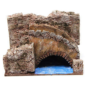 Stream with stairs and bridge for 10 cm nativity scene s1