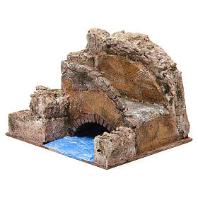 Brook bridge and stairs for Nativity 12 cm 20X25X15 cm s2