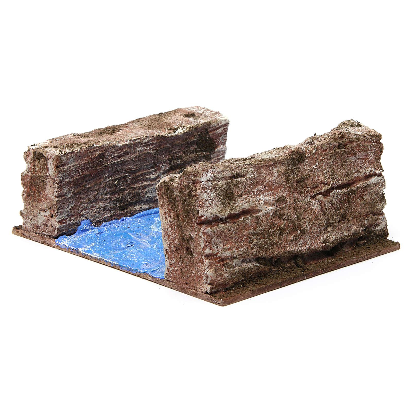 Ruscello sponde per presepe 12 cm 15X20X10 cm 4
