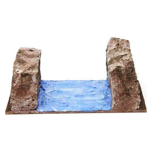 Ruscello sponde per presepe 12 cm 15X20X10 cm 1