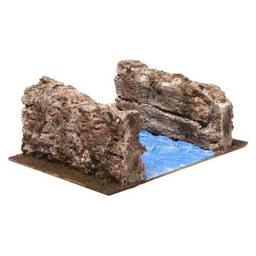 Ruscello sponde per presepe 12 cm 20X25X10 cm 4