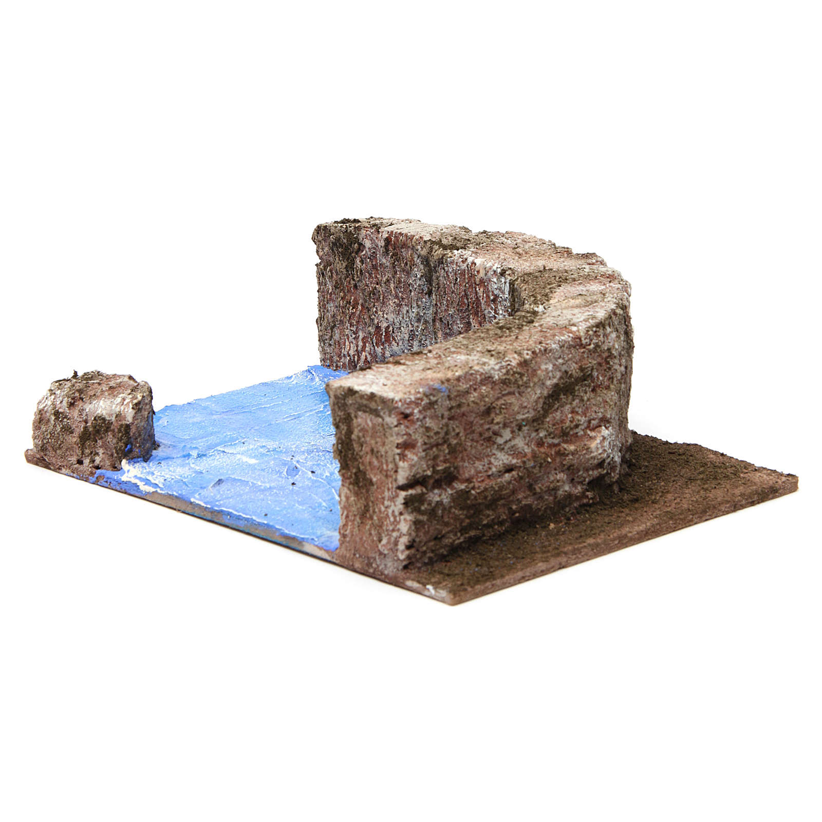 Ruscello angolo destro per presepe 10 cm 15X20X10 cm 4