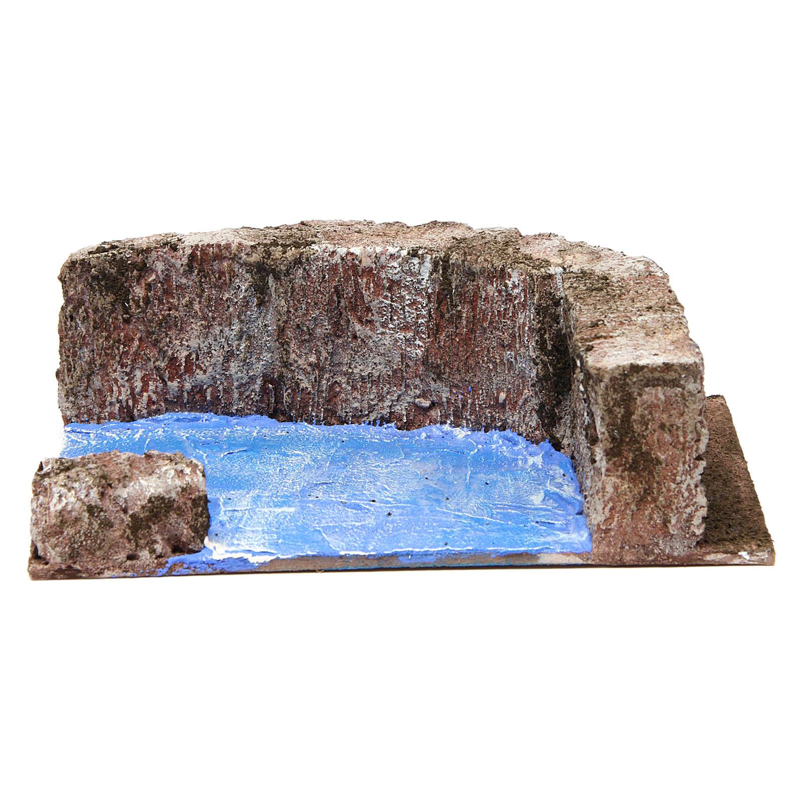 Right Angle Stream for 10 cm Nativity 15X20X10 cm 4