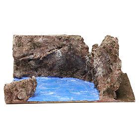 Ruscello angolo destro per presepe 12 cm 10x25x20 cm s1