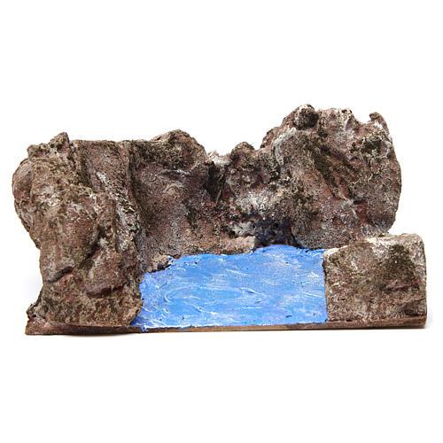 Left corner stream for nativity 12 cm 10x25x20 cm 1