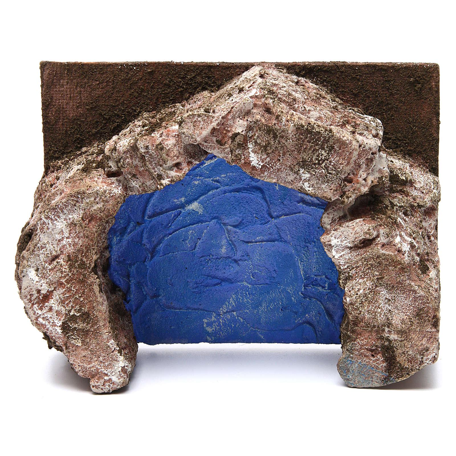 Ruscello semicerchio per presepe 10 cm 10x20x15 cm 4