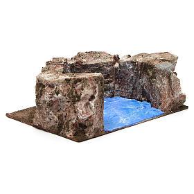 Ruscello semicerchio per presepe 10 cm 10x20x15 cm s4