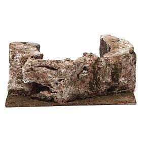 Ruscello semicerchio per presepe 10 cm 10x20x15 cm s5