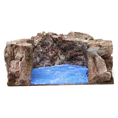 Ruscello semicerchio per presepe 10 cm 10x20x15 cm 1