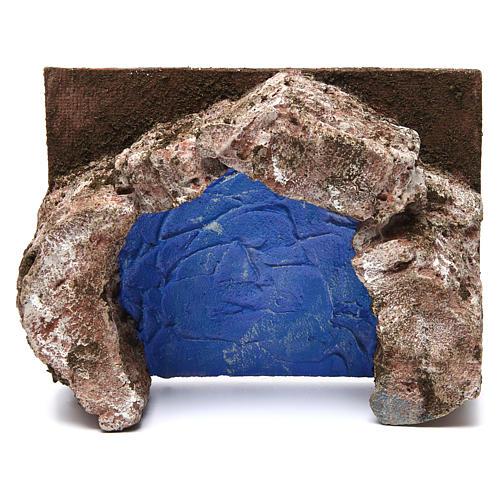 Ruscello semicerchio per presepe 10 cm 10x20x15 cm 2