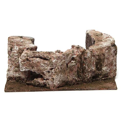 Ruscello semicerchio per presepe 10 cm 10x20x15 cm 5