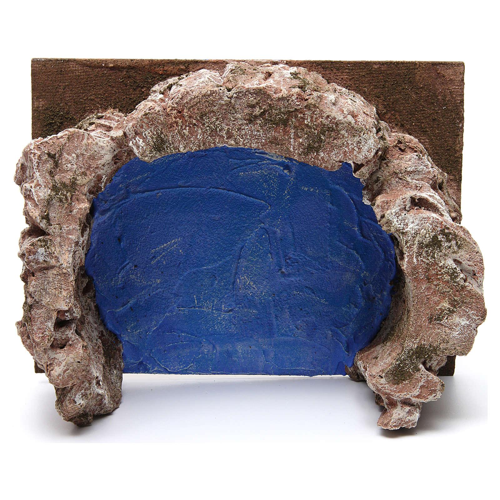 Arroyo semicircular para belén 12 cm de altura media 10x25x20 cm 4