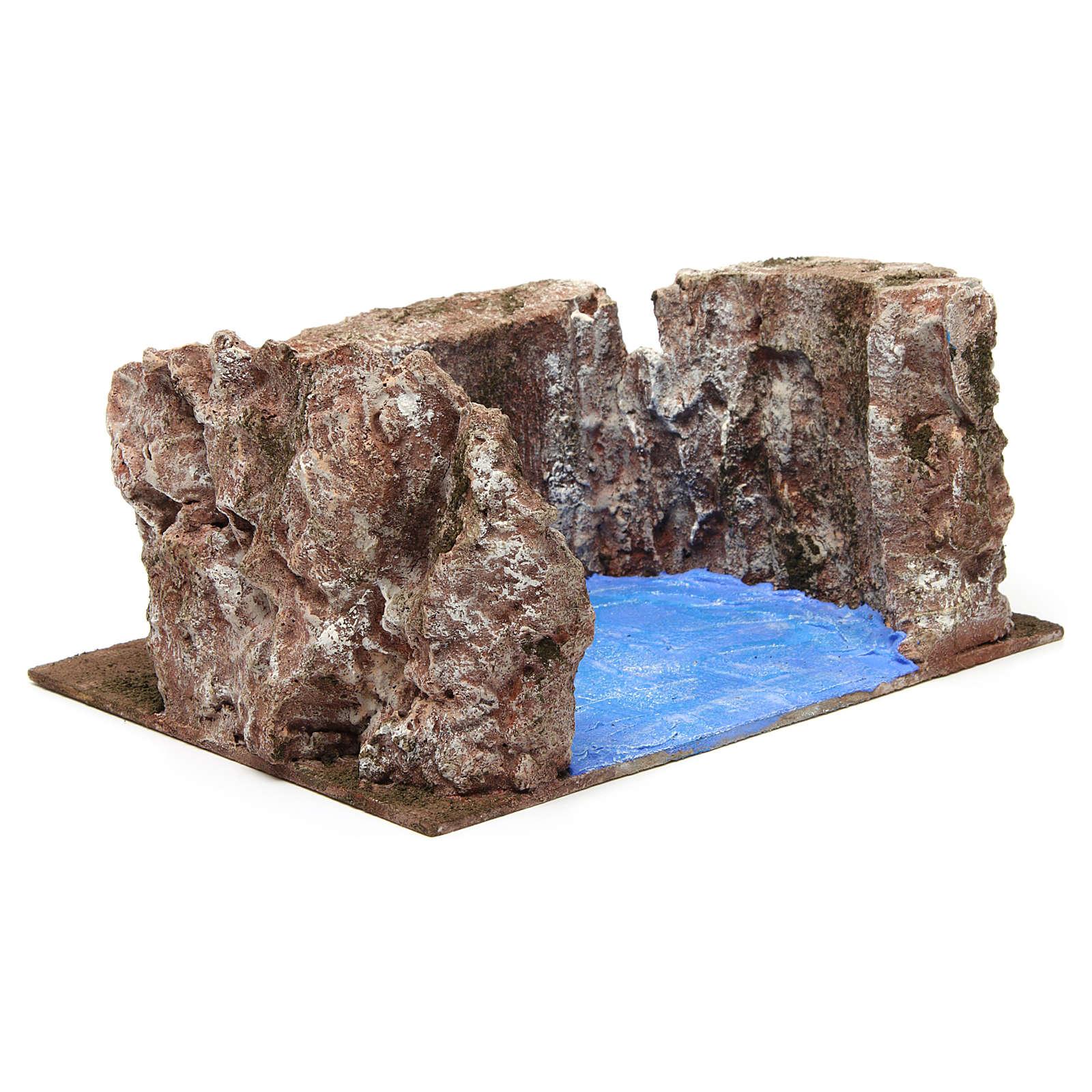 Ruscello semicerchio per presepe 12 cm 10x25x20 cm 4