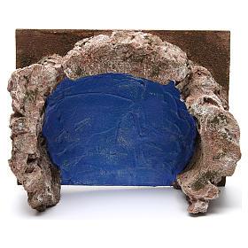 Ruscello semicerchio per presepe 12 cm 10x25x20 cm s2