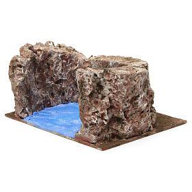 Ruscello semicerchio per presepe 12 cm 10x25x20 cm s3