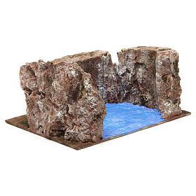 Ruscello semicerchio per presepe 12 cm 10x25x20 cm s4