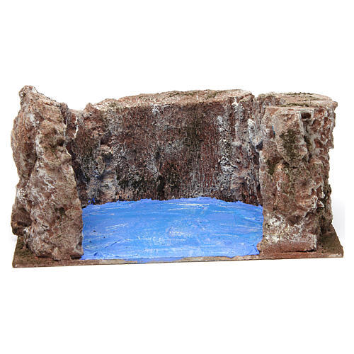Ruscello semicerchio per presepe 12 cm 10x25x20 cm 1