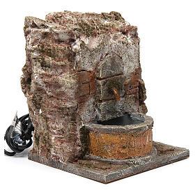 Fuente pared para belén 10-12 cm de altura media 20x15x15 cm s3