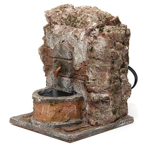 Fuente pared para belén 10-12 cm de altura media 20x15x15 cm 2