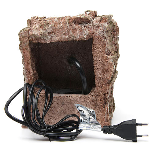 Fuente pared para belén 10-12 cm de altura media 20x15x15 cm 4