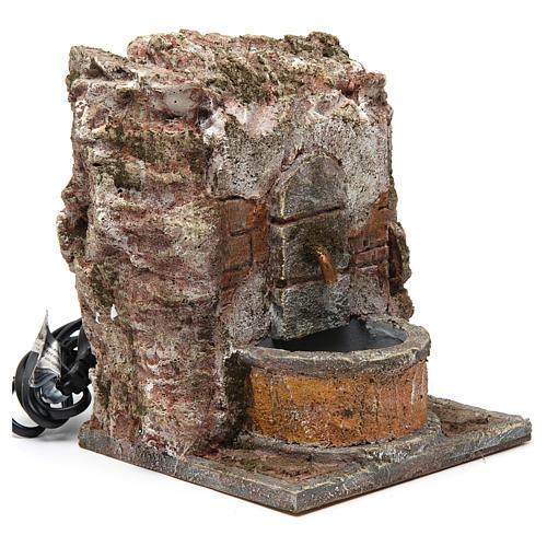 Fontana muro per presepe 10-12 cm 20x15x15 cm 3