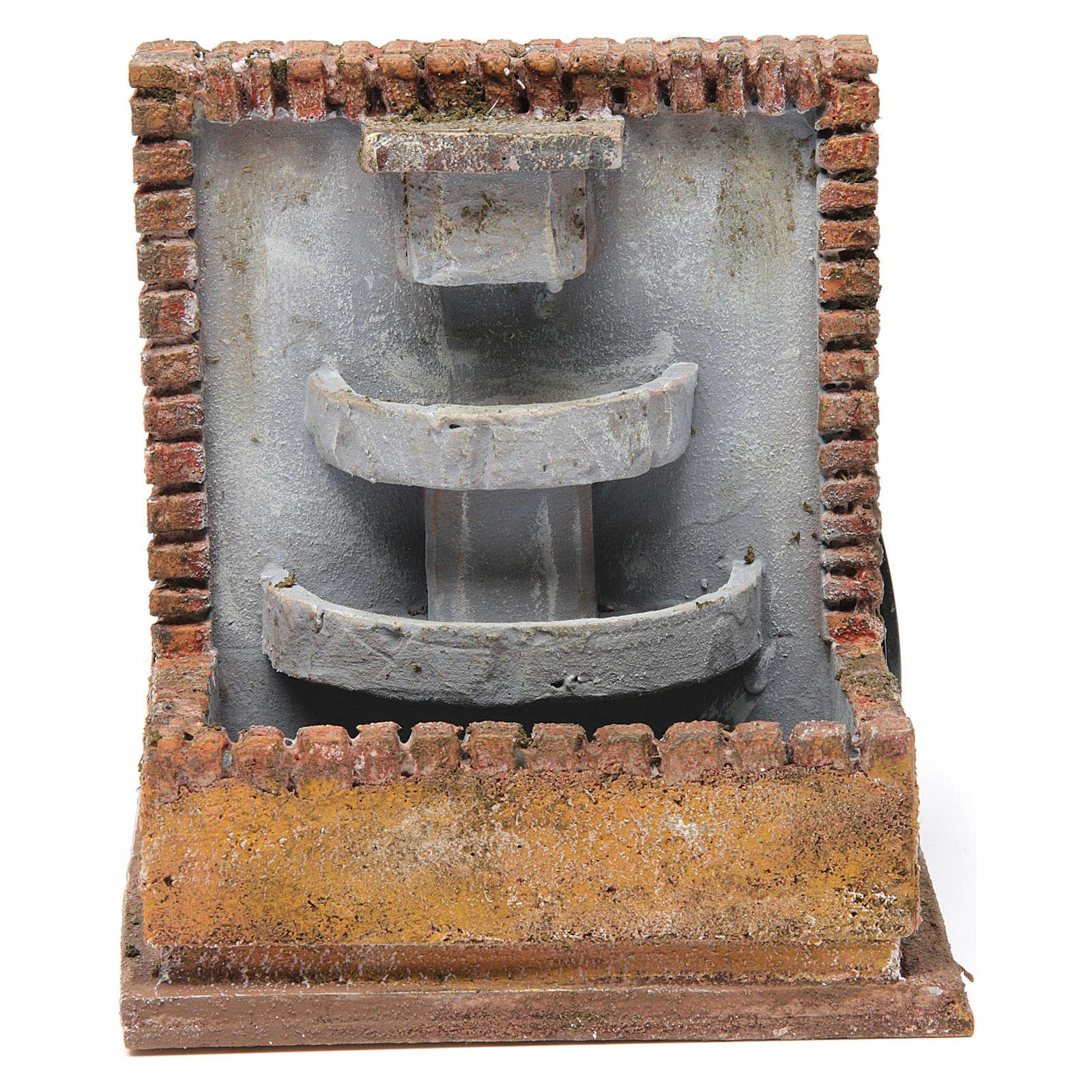 Fontana per presepe 10-12 cm 20x15x15 cm 4