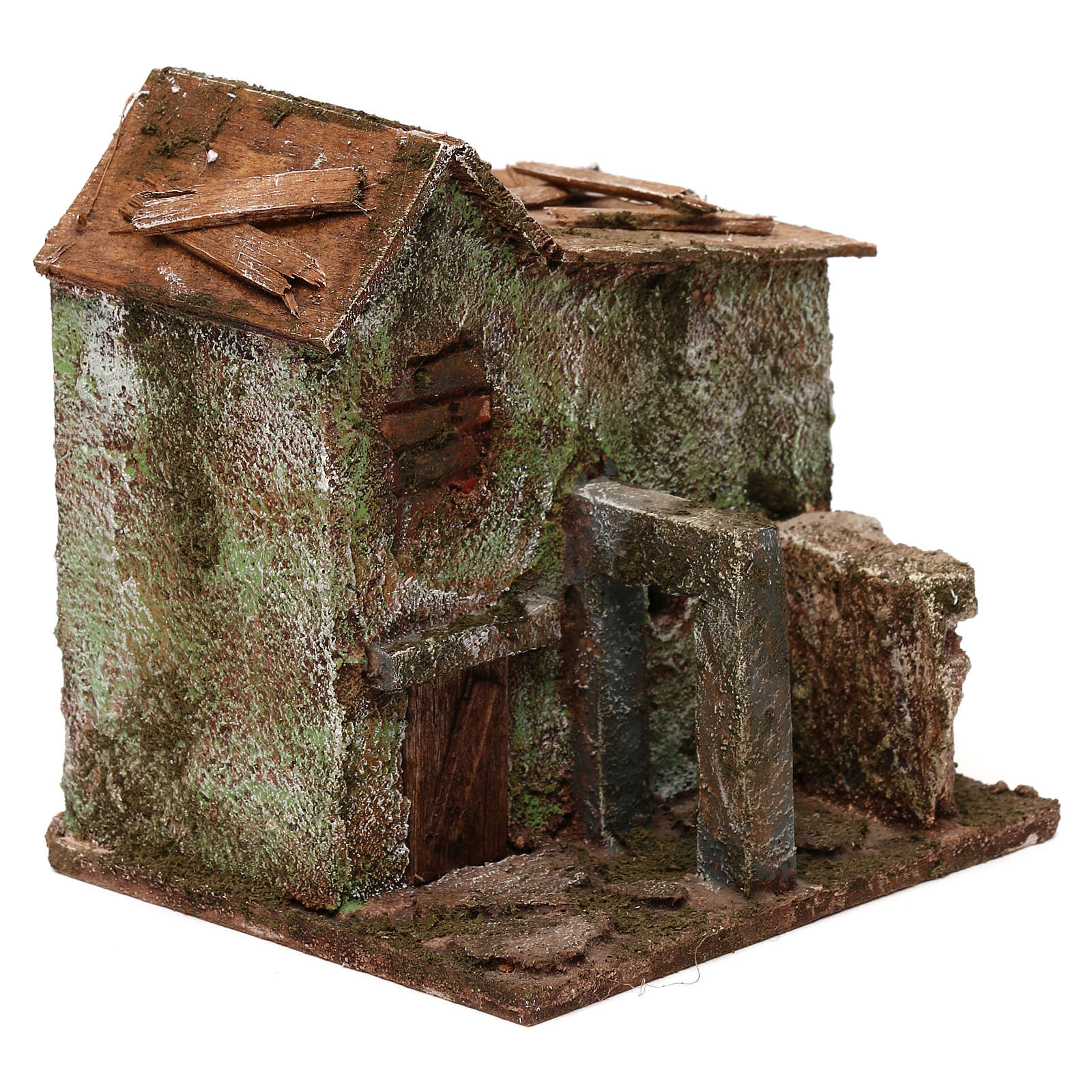 House with door for nativity scene 4