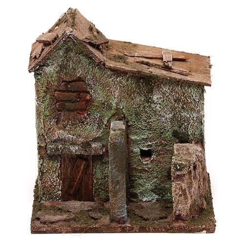 House with door for nativity scene 1