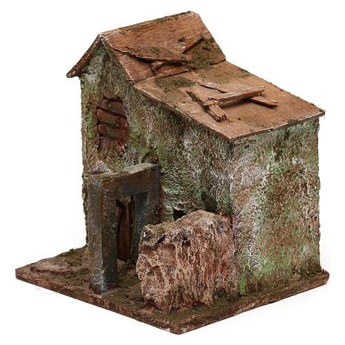 House with door for nativity scene 2