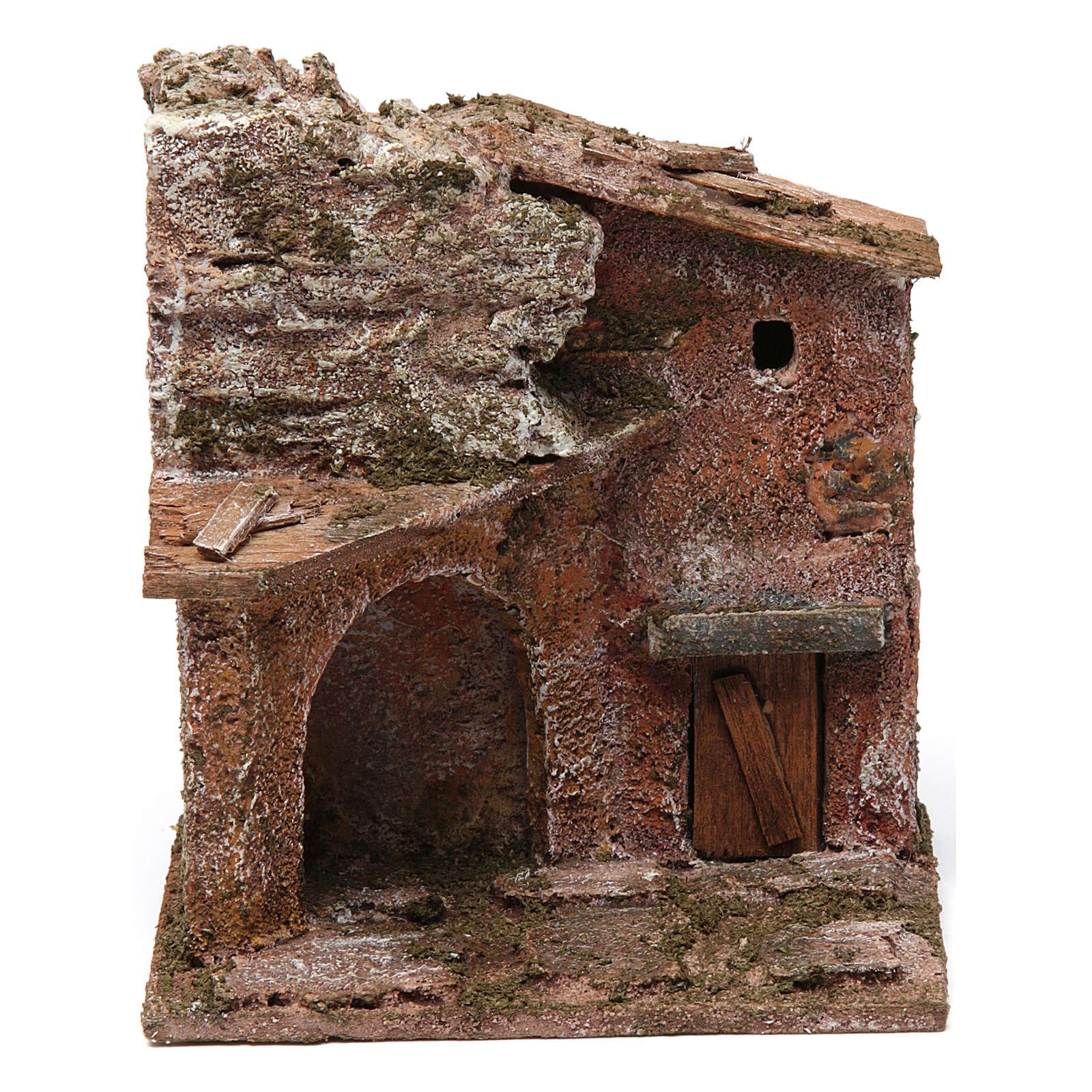 Casa porta e arco 10x10x10 cm 4
