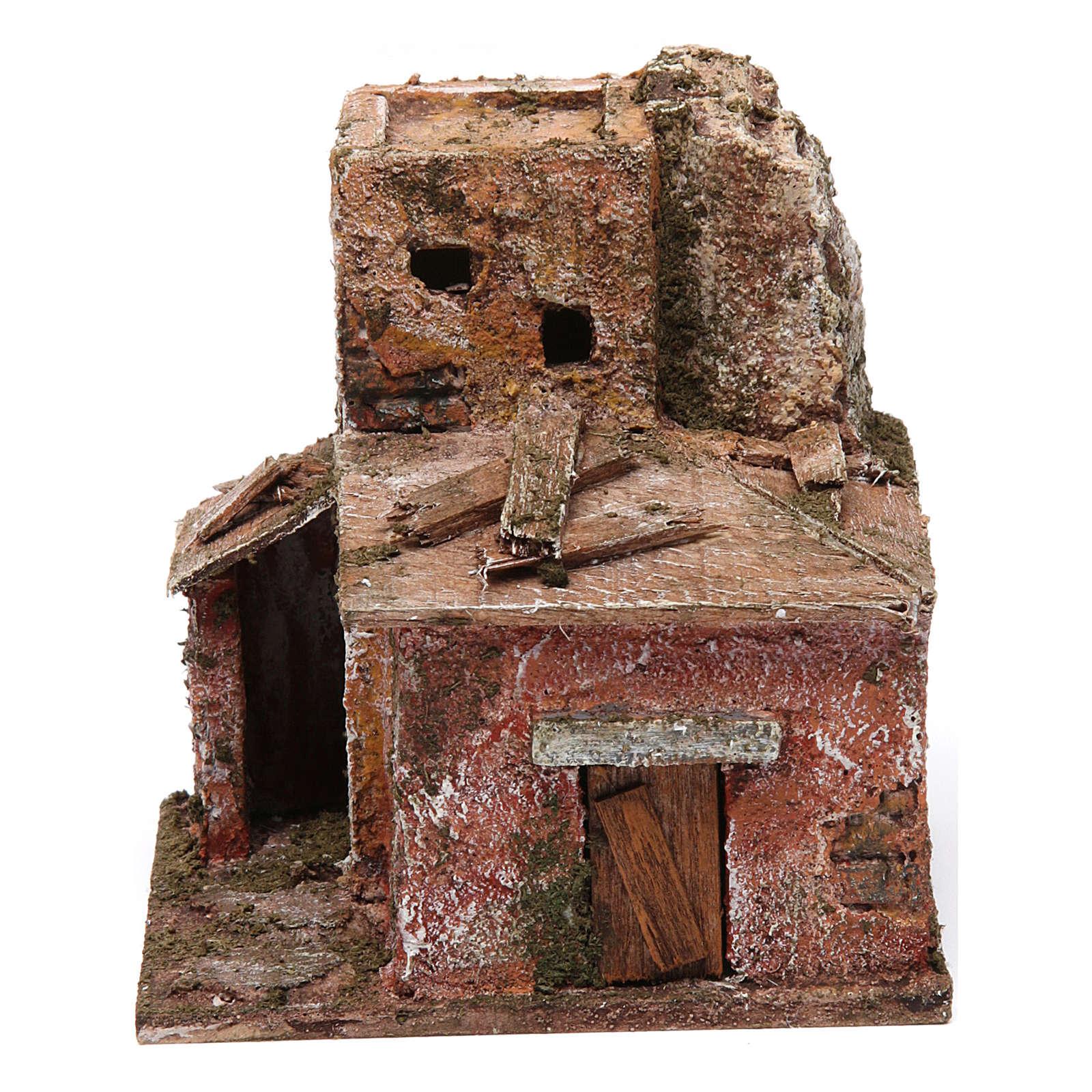 Two floor house with door for nativity scene 4