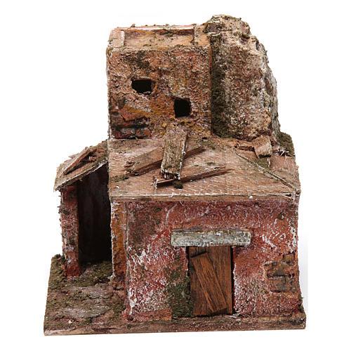 Two floor house with door for nativity scene 1