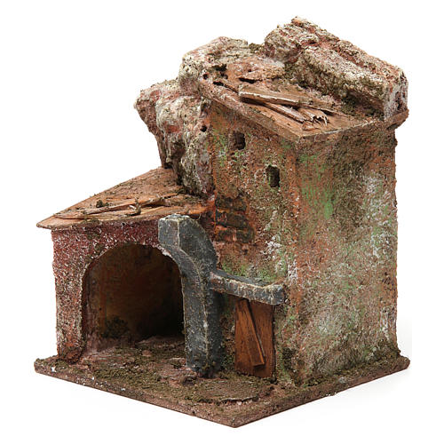 Casa porche y arco 10x10x10 cm 2