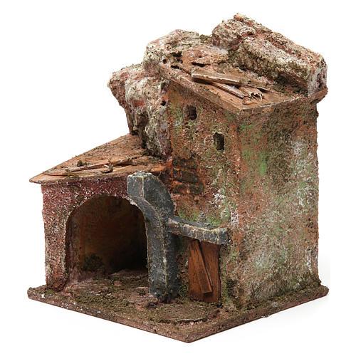Casa porticato e arco 10x10x10 cm presepe 3 cm 2