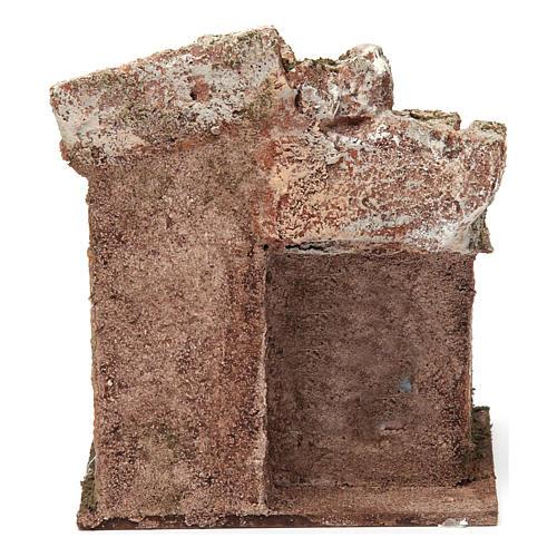 Casa porticato e arco 10x10x10 cm presepe 3 cm 3