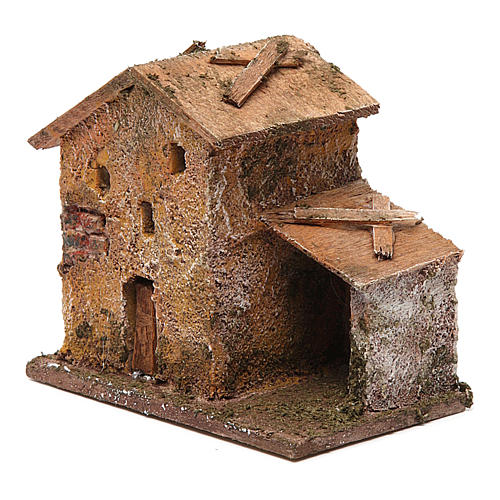 Small porticoed house 10x10x5 cm 2
