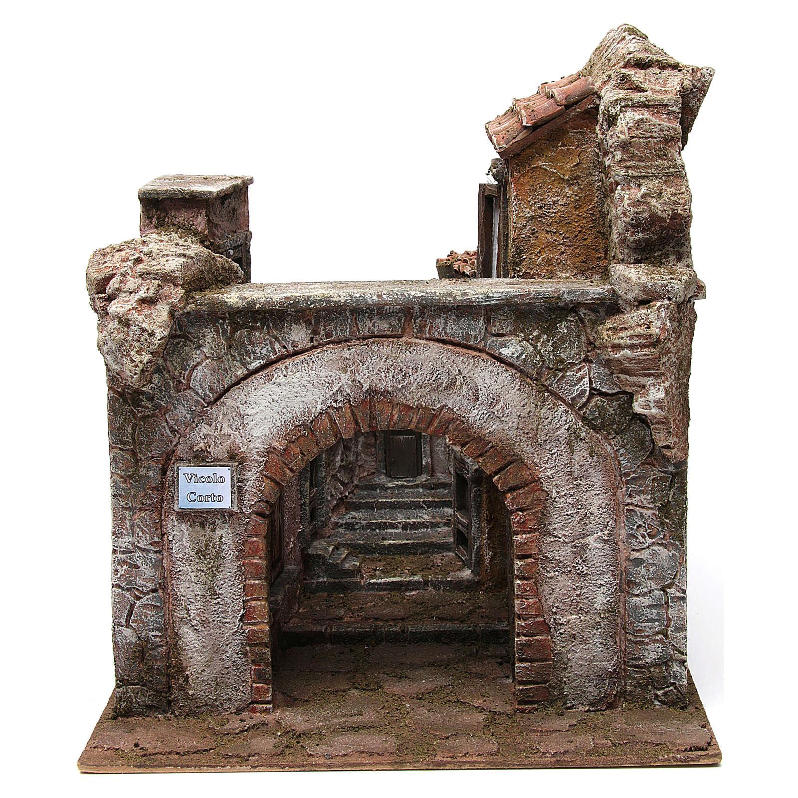 Borgo Vicolo Corto per presepe 10 cm 35x30x40 cm 4
