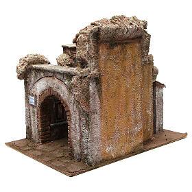 Borgo Vicolo Corto per presepe 10 cm 35x30x40 cm s2