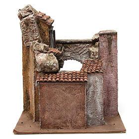 Borgo Vicolo Corto per presepe 10 cm 35x30x40 cm s5