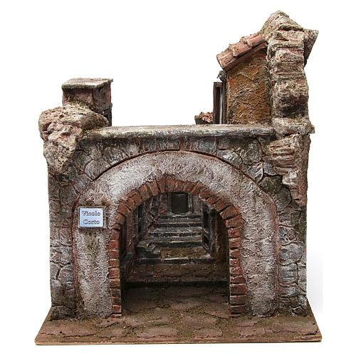 Borgo Vicolo Corto per presepe 10 cm 35x30x40 cm 1
