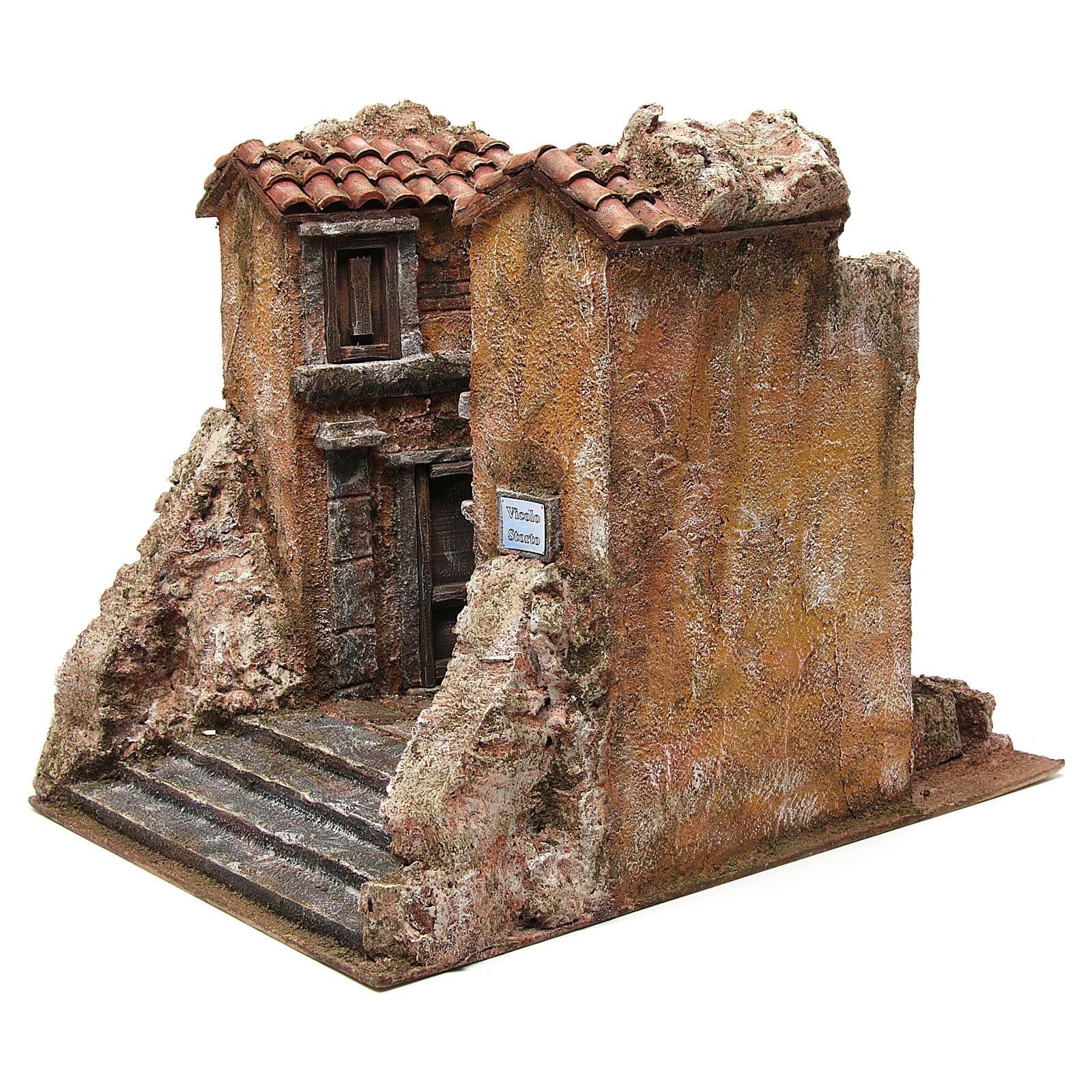 Aldea Callejón Torcido para belén 10 cm de altura media 29x29x25 cm 4