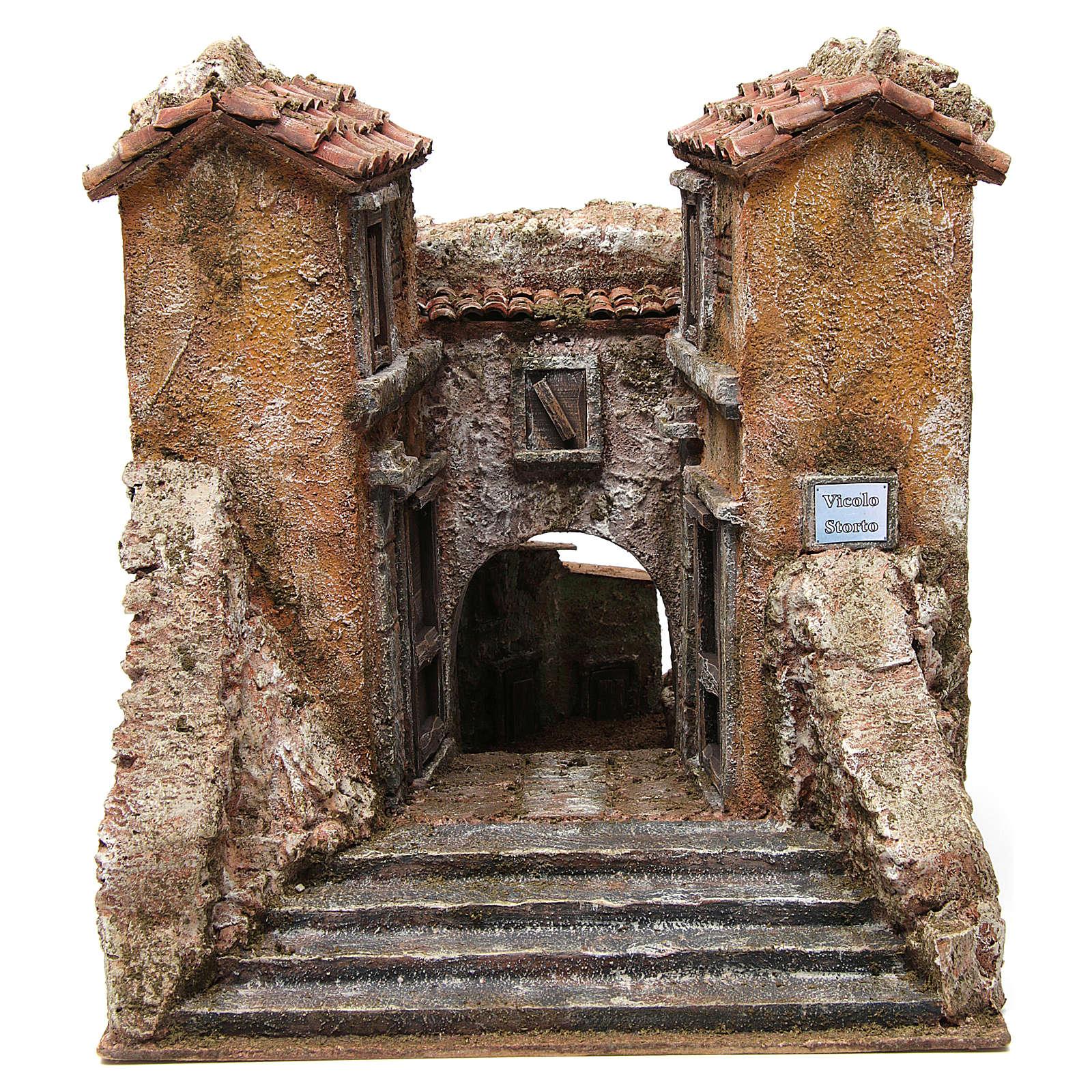 Borgo Vicolo Storto per presepe 10 cm 29x29x25 cm 4